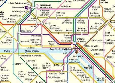 Parijs metrokaart