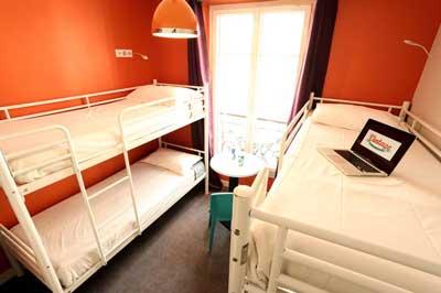 Hostel vlakbij Gare du Nord in Parijs