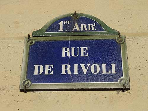 Winkelstraten in Parijs